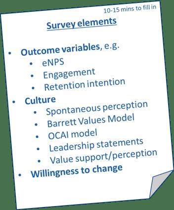 Bedrijfscultuur survey